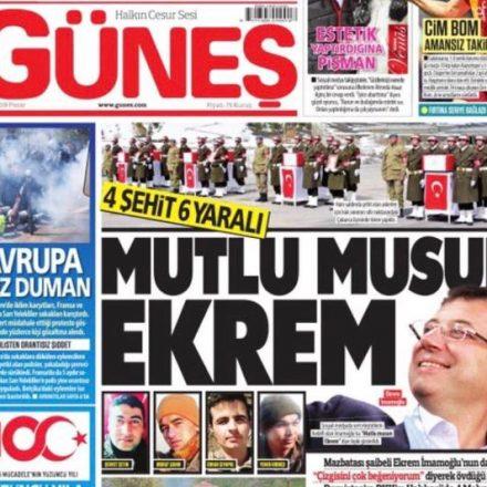 CHP'den Güneş gazetesine sert tepki:  Bu paçavrayı basan beyler…