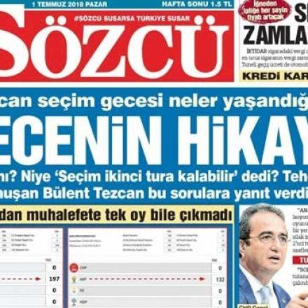 Gazetecilikte etik tartışması! Sözcü Gazetesi neden kaynak göstermedi?