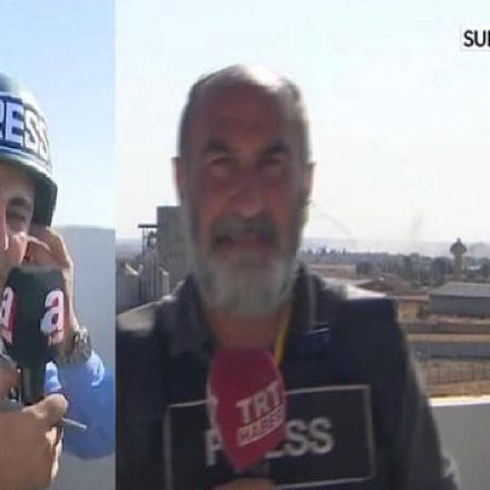 TRT yayınındaki detay, A Haber muhabirinin yalanını ortaya çıkardı!
