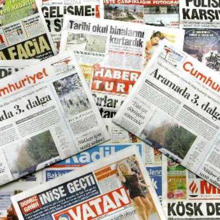 Günümüzde gazeteciliğin hali! 10 gazete aynı gün, aynı başlıkla çıkıyor!