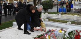 Mezarından sonra Agos Gazetesi önünde! Hrant Dink 13. ölüm yıldönümünde anıldı!