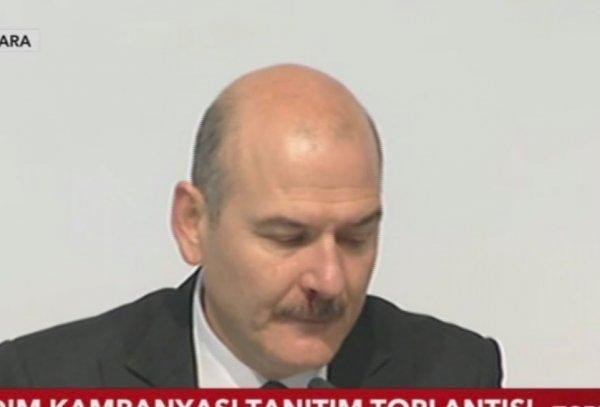 İçişleri Bakanı Süleyman Soylu canlı yayında rahatsızlandı! Yayın apar topar kesildi!